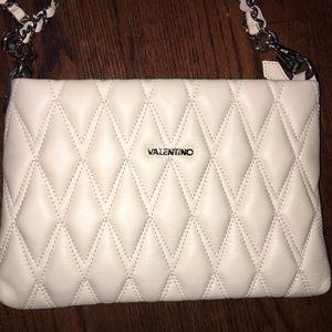 Valentino Quilted Vanille Crossbody Bag